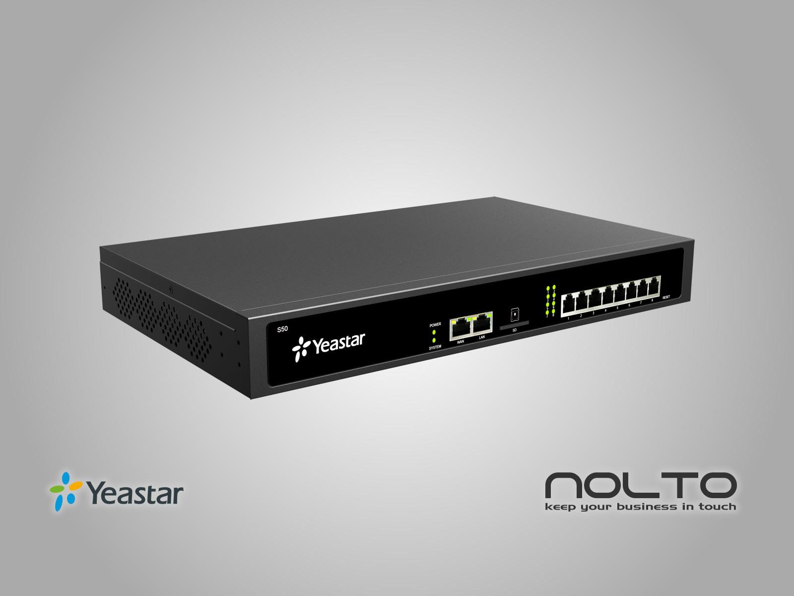 50 Kullanıcı için IP telefon Santral sistemi S50