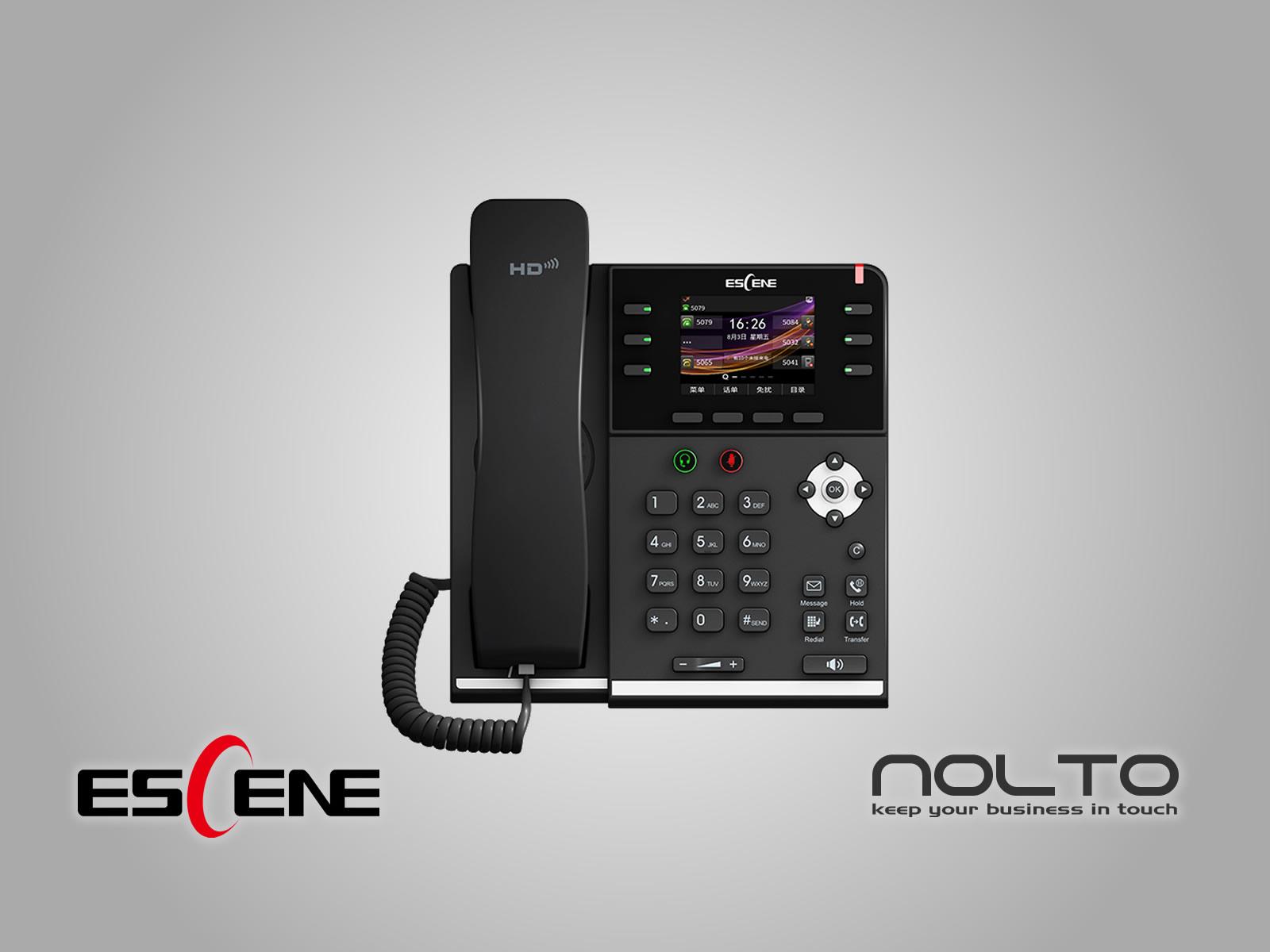 Escene ES380-PG POE ve Gigabit VoIP Telefon
