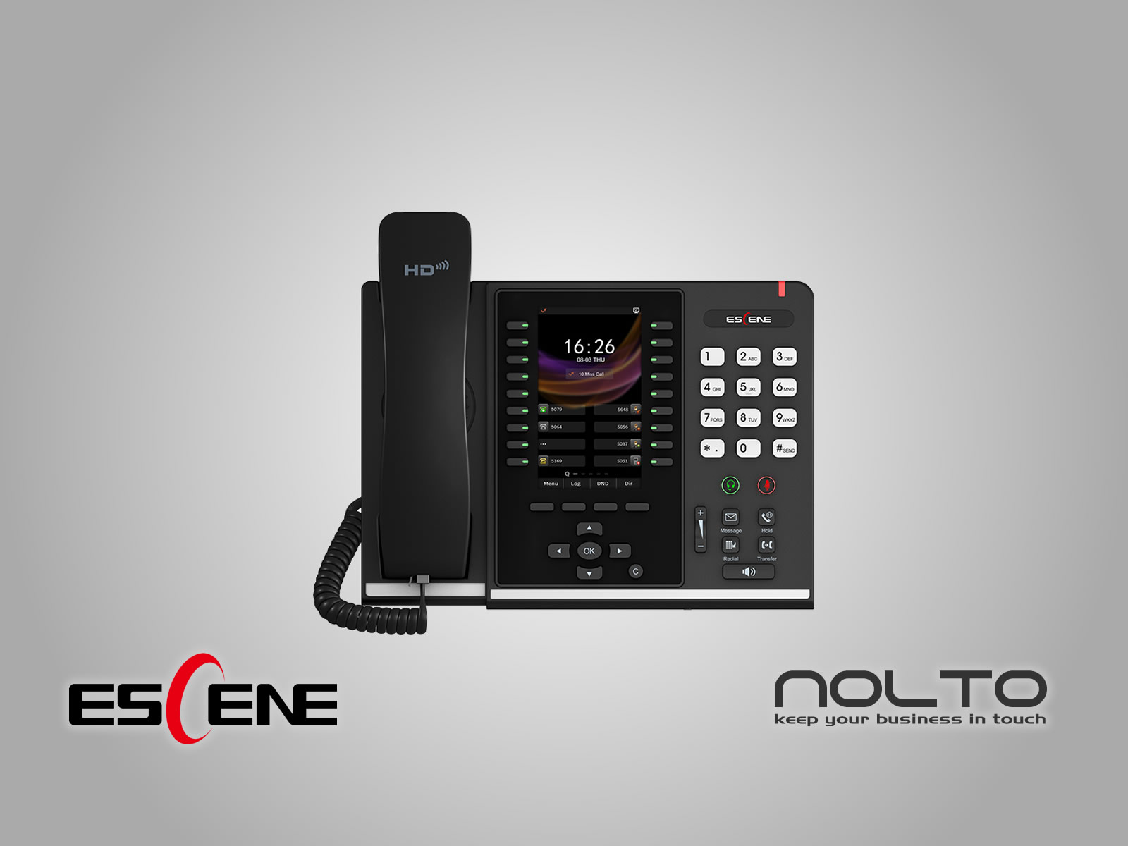Escene ES680-PEGS Profesyonel Sekreter Asistan Konsol Telefonu