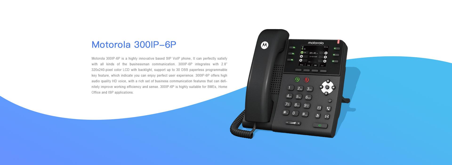 Motorola 300IP-6P Ofis Telefonu Açıklaması