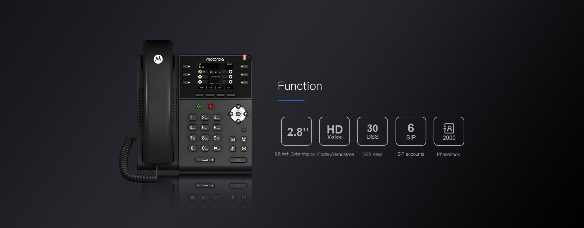 Motorola 300IP-6P Ofis Telefonu Fonksiyonları