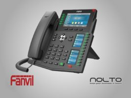 Fanvil X6U 3 Ekranlı Profesyonel Sekreter Konsol Masası IP Telefonu