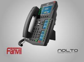Fanvil X6U 3 Ekranlı Profesyonel Sekreter Konsol Yada Resepsiyonistler Için Ideal Masa IP Telefonu.