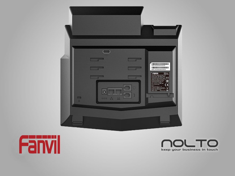 fanvil-x6u VoIP Telefon Arka Görünüm Portları