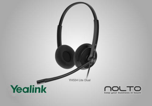 Yealink YHS34 Dual Çift Taraflı Mikrofonlu Profesyonel Çağrı Merkezi Kulaklığı