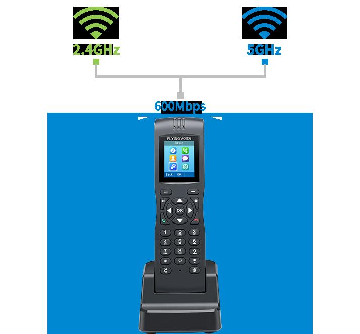 FIP16 Dual-Band Wi-Fi Kablosuz IP Telefon El Terminali