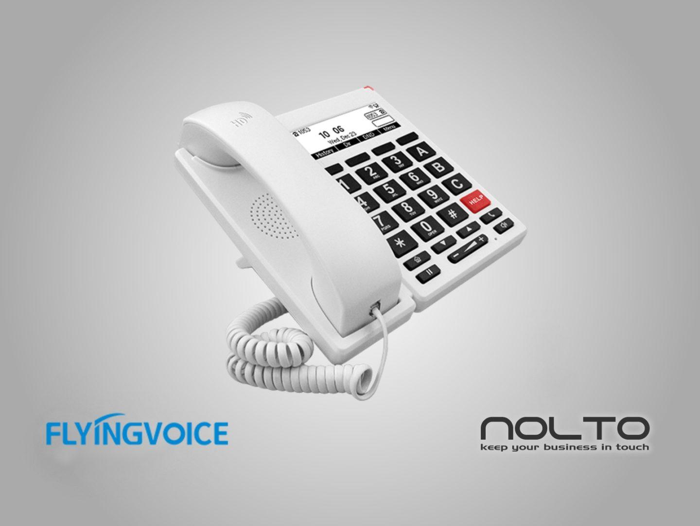 FlyingVoice FIP12WP Yaşlılar için Özelleştirilmiş Büyük Düğmeli IP Telefon